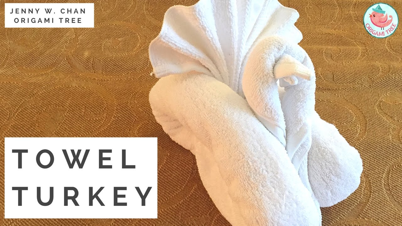 How To Fold A Towel Animal Turkey Bird Towel Folding In Resort Hotel Bedroom Guests