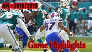 Miami Dolphins vs Buffalo Bills - NFL SEASON 2018-19 02.12. WEEK-13 - Game Highlights