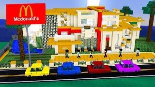 Minecraft: NOSSA CASA VIROU UM MCDONALDS! 😱🍔🍟