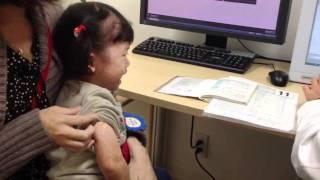 インフルエンザ予防接種される優ちゃん