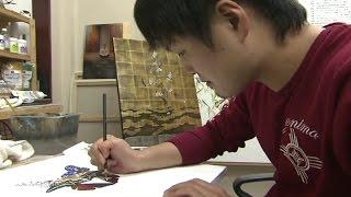 宮崎県延岡市出身の美術家・小松孝英にキマグレンが迫る──。 2013年11月。