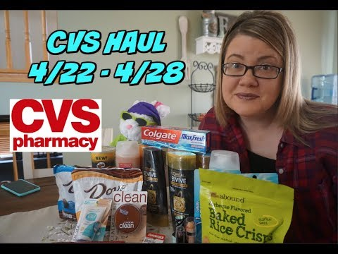 CVS COUPONING HAUL 4/22 - 4/28 ~ Everything was FREE!!