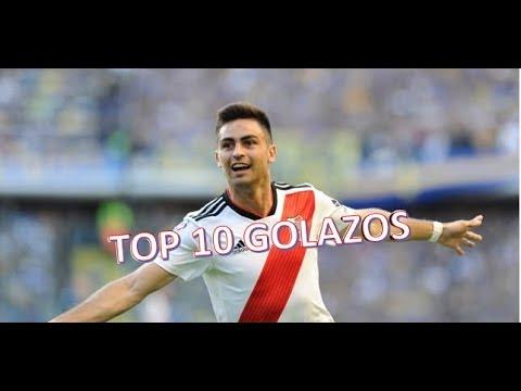 TOP 10 GOLAZOS del PITY MARTINEZ en RIVER | 2015-2018
