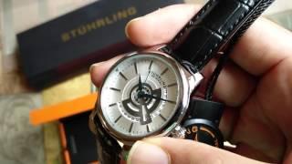 Review - Stuhrling Original Men's 787.01 Symphony Quartz Date Leather Strap Black Watch