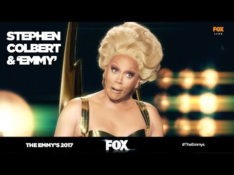 The Emmy's 2017 | Stephen Colbert exclusive interview with Emmy | FOX