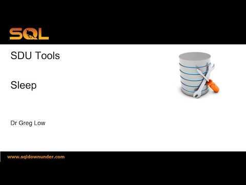 SDU Tools 60 Sleep in T-SQL for SQL Server