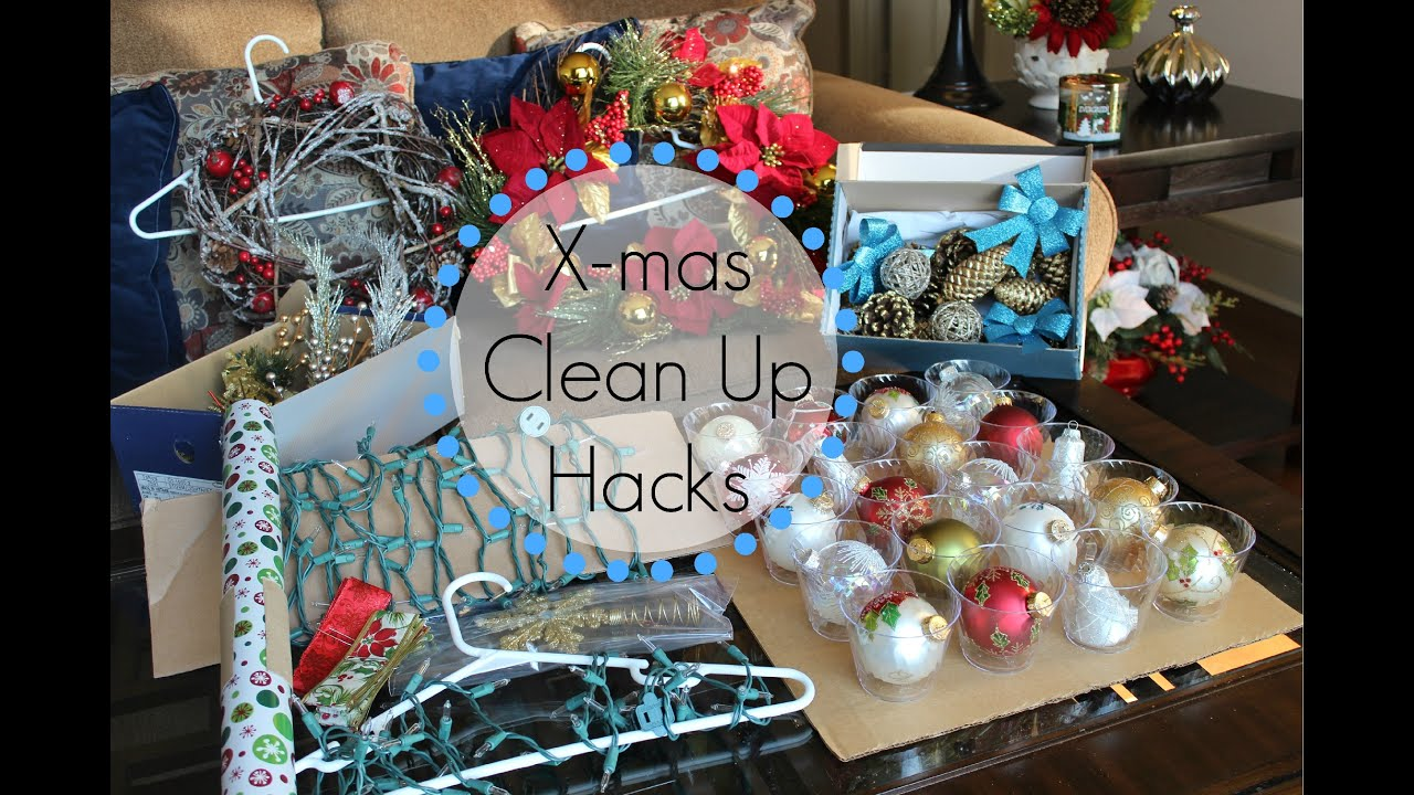 christmas clean up hacks 7 tips for storage ornaments lights ribbon wrapping paper youtube