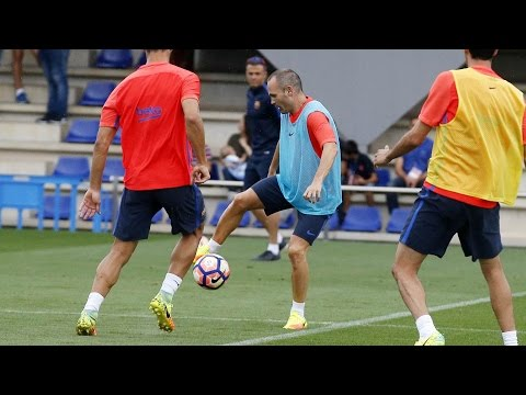 FC Barcelona training session: Final session ahead of the away trip to Sporting Gijón