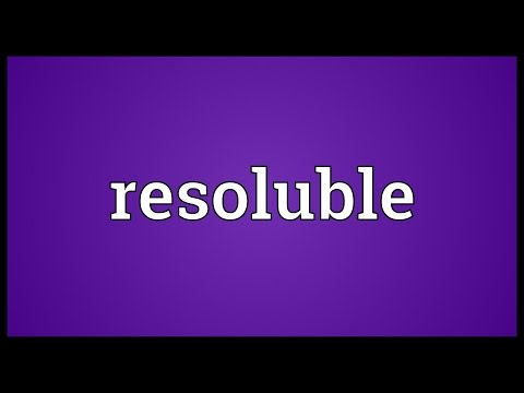 Header of resoluble