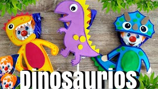 Paletas Payaso decoradas //  Dinosaurios // Día del niño // paletas decoradas para niños.