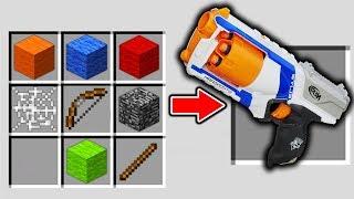NERF GUN WAFFE CRAFTEN IN MINECRAFT