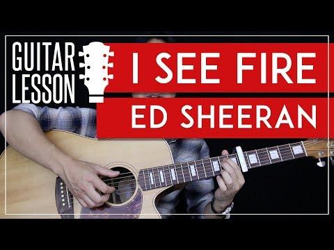 I See Fire Guitar Tutorial - Ed Sheeran Guitar Lesson 🎸 |Tabs + Fingerpicking + Guitar Cover|