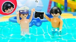 Der Badehosendiebstahl!  Playmobil Polizei Film - KARLCHEN KNACK #206
