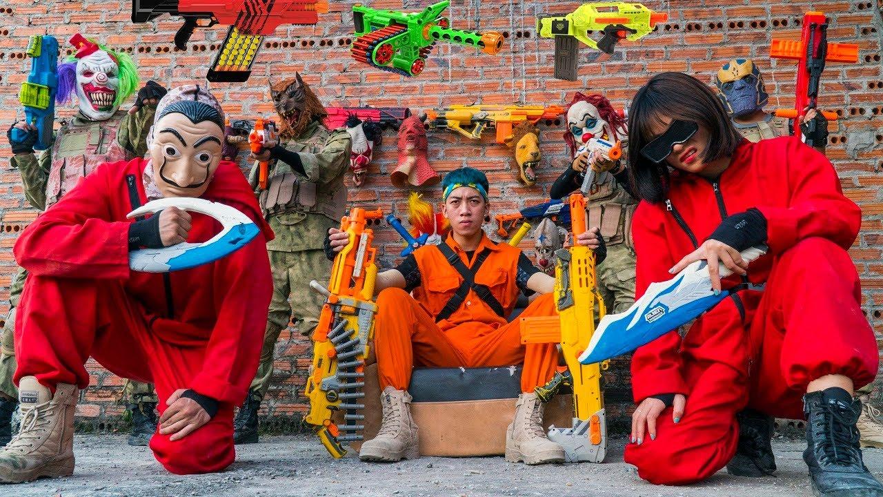 MASK Nerf War : Warriors ALPHA Nerf Guns Fight King's Man Mask special killer