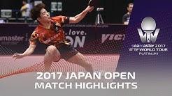 2017 Japan Open | Highlights Tonin Ryuzaki vs Lim Jonghoon (U21-Final)