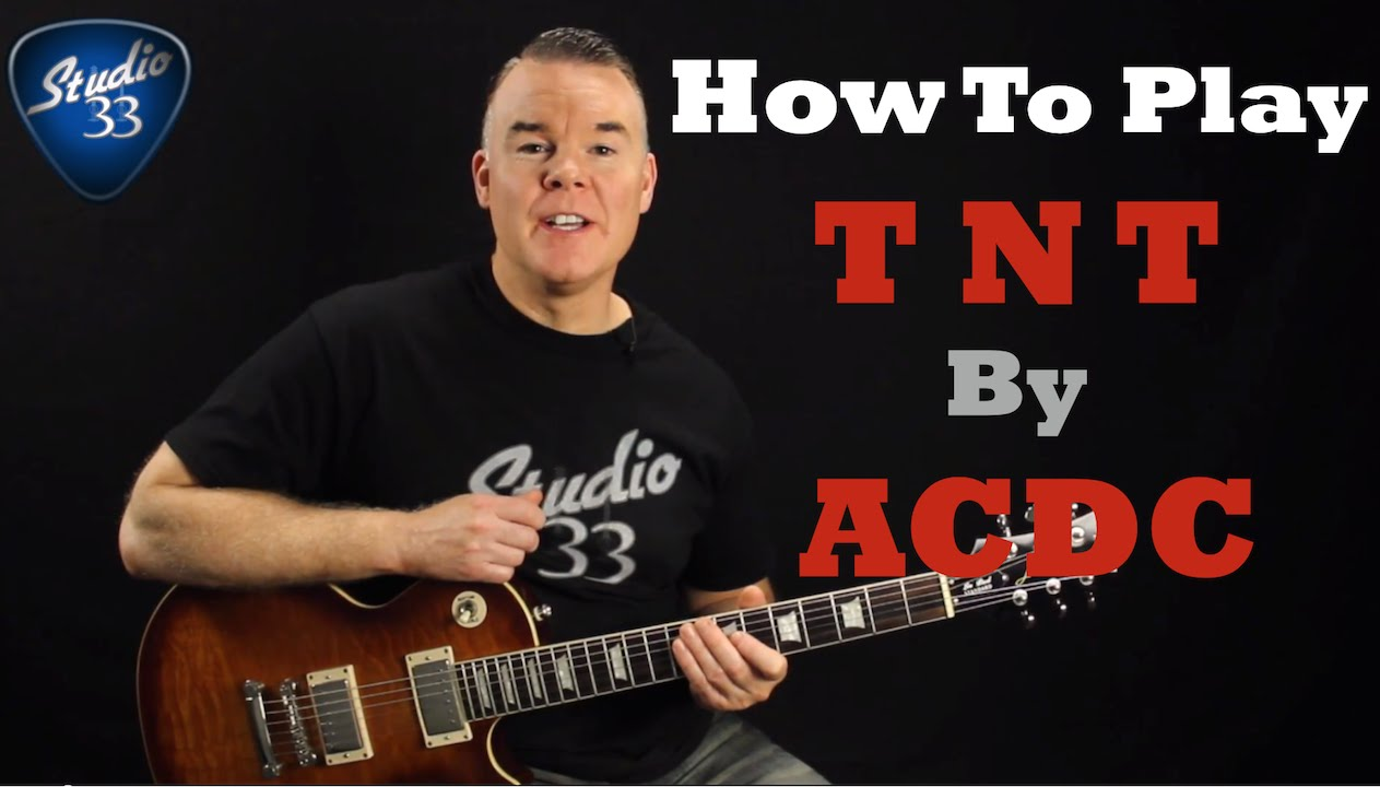 How To Play Tnt By Acdc On Guitar Easy Beginner Guitar Song Youtube