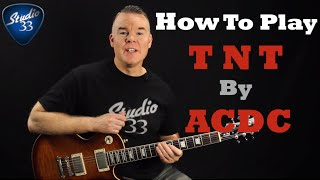 How to play TNT by ACDC on guitar - Easy beginner guitar song