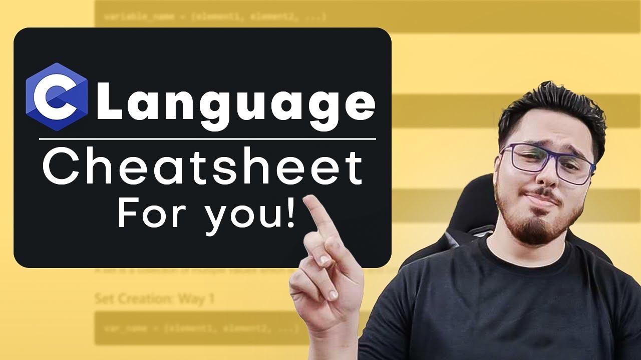 C Language Cheatsheet 🧾 for Beginners 🔥