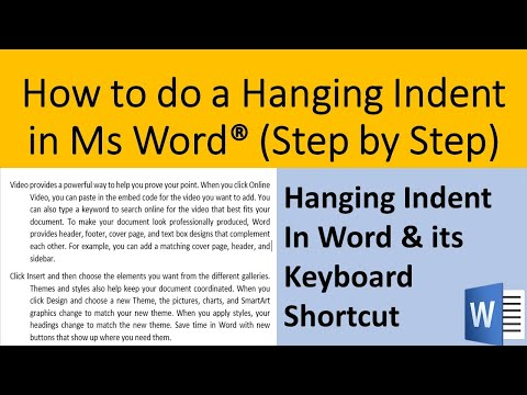 Step by step way to do a hanging indent in Ms Word   How to do a hanging indent in Word [2020]