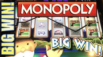 ★AMAZING MONOPOLY BIG WIN! FIRST SPIN WOW!!★ 🎩💸 REAL ESTATE TYCOON Slot Machine Bonus (WMS) REPOST