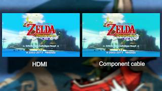 WiiU: HDMI vs. Component cable | Comperisson (4k)