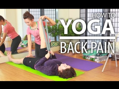 yoga for back pain  complete beginners yoga for relieving