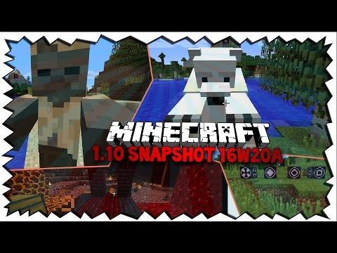 Minecraft 1.10 UPDATE! - MOBS, Blöcke, Strukturen & mehr: Snapshot 16w20a!