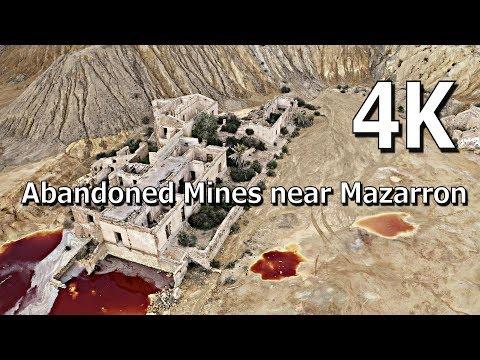 The remarkable Abandoned Mines Minas de mazarrón near Mazarron Murcia Spain, in 4K
