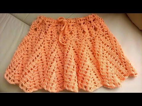 вязание крючком ажурная юбка