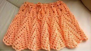 Ажурная юбка крючком Как связать юбку крючком Skirt crochet Часть 2