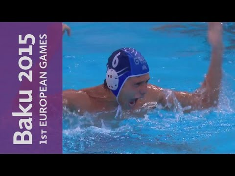 Greece edge out Croatia in a goal filled Bronze Medal Match | Water Polo | Baku 2015 European Games