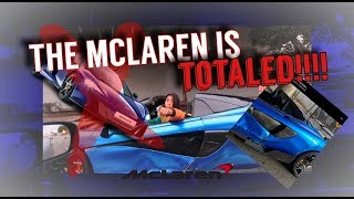 """BIG CRASH"" TALLGUYCARREVIEWS MCLAREN GETS TOTALED!!!!"