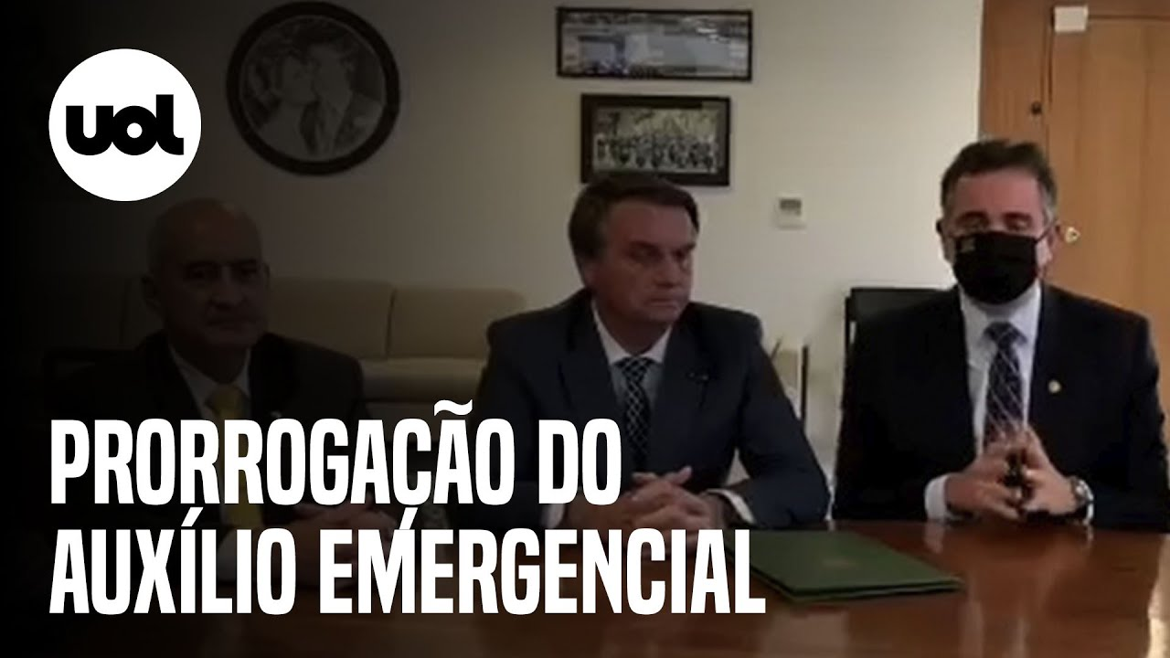 Download Bolsonaro prorroga auxílio emergencial por mais três meses
