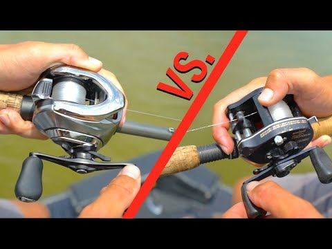 Futuristic Digital Reel VS. Old Vintage Reel -- Fishing CHALLENGE