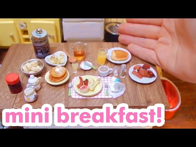 Real Food Miniature Breakfast - Bacon, Eggs and Biscuits with a hot cup of coffee!!