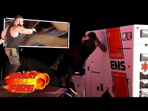 Roman Reigns vs. Braun Strowman - Ambulance Match: WWE Great Balls of Fire 2017