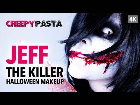 Creepy Pasta  Jeff The Killer Halloween Makeup Tutorial
