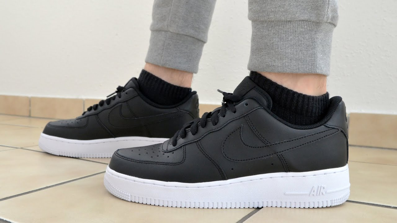 Nike Air Force 1 Low Black White Unboxing On Feet Review Youtube
