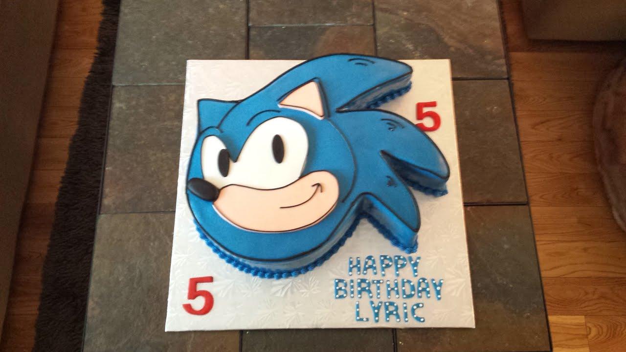 Sonic Boom Edible Image Cake