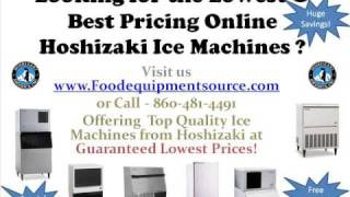 Discount Hoshizaki Ice Machines Lowest and Best Price Ice Maker
