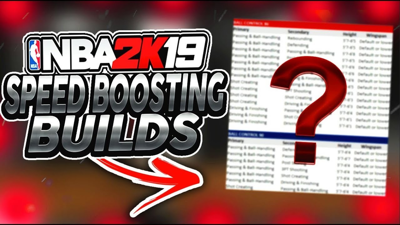 NBA 2K19 ALL SPEED BOOSTING BUILDS!!! GAME CHANGING