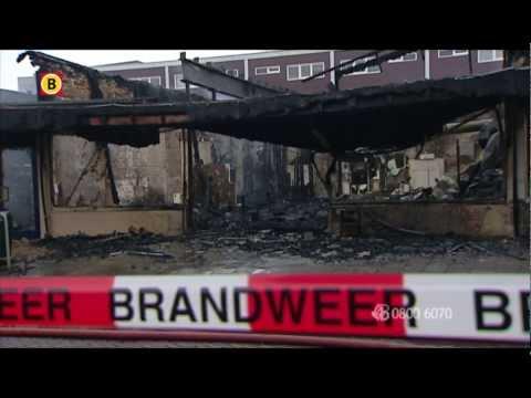 Brandstichting in eethuis