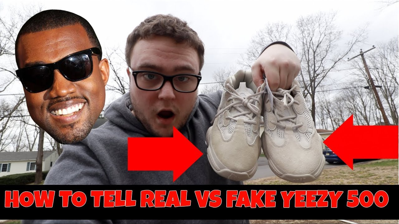 b9d689f1 HOW TO TELL REAL VS FAKE ADIDAS YEEZY 500! - YouTube