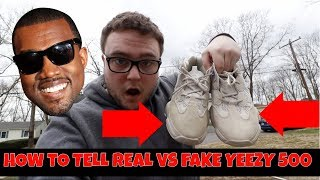HOW TO TELL REAL VS FAKE ADIDAS YEEZY 500!