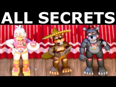 FNAF 6 - All Secrets, Easter Eggs, Achievements & Rare Scree