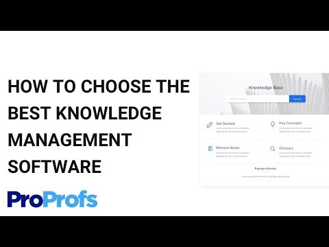 How To Choose The Best Knowledge Management Software