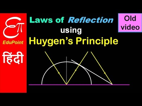 Huygen's Principle - Laws of reflection | video in HINDI | EduPoint