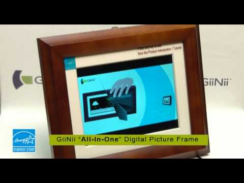 GiiNii All-In-One Digital Picture Frame - How to Use - YouTube