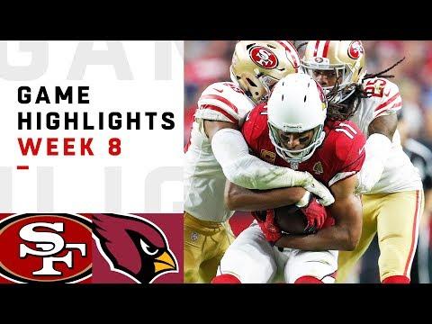 49ers vs. Cardinals Week 8 Highlights | NFL 2018