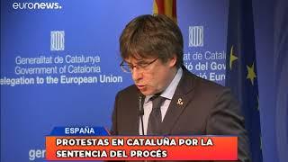 Protestas en Cataluña por la sentencia del Procés